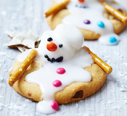 Melting Snowman Biscuits Recipe